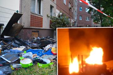 Leipzig: Sondermüll an Leipziger Plattenbau angezündet: Zwei Häuser evakuiert