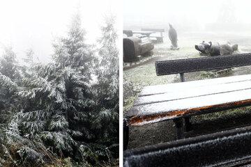 Weiße Überraschung im Herbst: Der erste Schnee in Sachsen ist da!