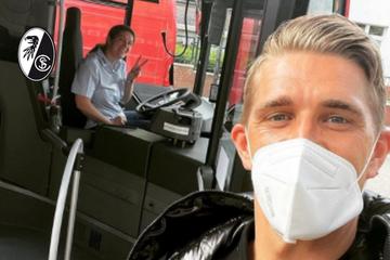 Von wegen goldene Steaks: Freiburgs Petersen fährt im Bus seiner Schwester!