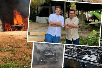 """""""Hatten große Schutzengel"""": Thomas Anders' Auto brennt bei Vater-Sohn-Tour komplett aus"""