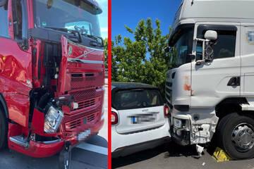 Unfall A100: Brummi-Fahrer verhindert katastrophalen Unfall auf A100