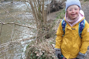 Girl with Down syndrome walks 20 miles to her grandpa for a very special reason