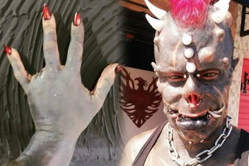 A devilish deal: Influencer cuts off body parts and implants tusks to look like Satan