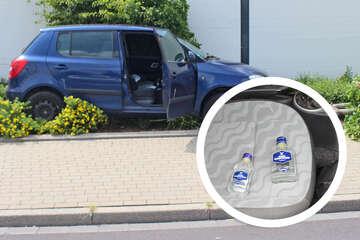 Ab durch die Mitte: Betrunkener Autofahrer baut spektakulären Unfall