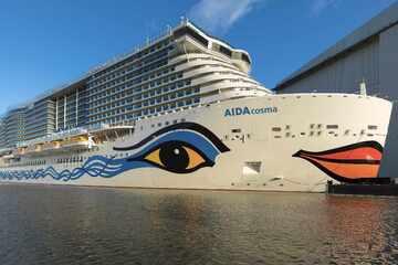 """Neuer Kreuzfahrtriese """"AIDAcosma"""" startet Reise zur Nordsee"""