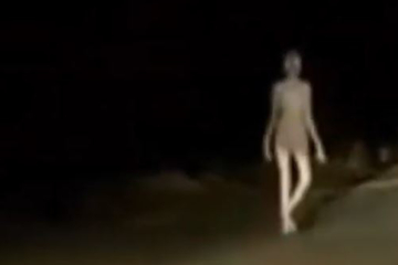 Internet users in India are freaking out over an alien-like creature caught on tape