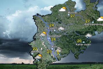 Wetterdienst gibt amtliche Warnung vor starkem Gewitter in NRW heraus!