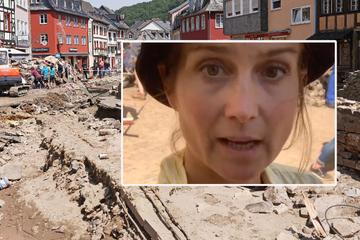 """RTL-Reporterin """"schminkt"""" sich mit Schlamm der Flut-Katastrophe: Sender beurlaubt sie direkt!"""