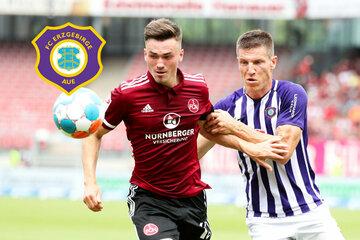 Starker FC Erzgebirge Aue punktet zum Auftakt beim 1. FC Nürnberg