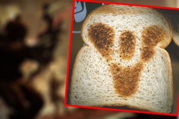 Toaster produziert seltsame Toastscheiben: Was hat es mit dem Symbol auf sich?