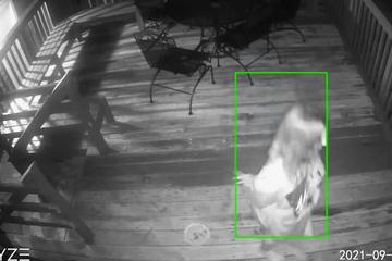 Ehepaar bekommt Riesen-Schreck, als sie sehen, wer oder was da auf ihrer Veranda wütet