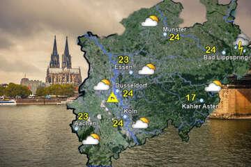 Mäßig warmes Wetter: Kurze Gewitter und Windböen in NRW möglich