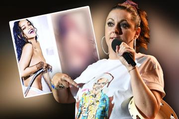 ¡Tus seguidores están patas arriba!  Celeste Barber imita la sexy imagen de Rihanna