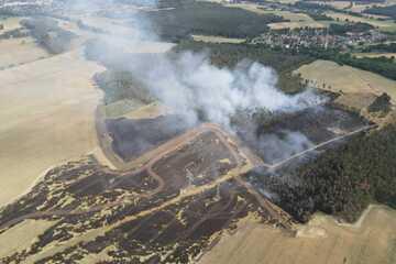 Sachsen-Anhalt: Hektarweise Wald und Feld abgebrannt