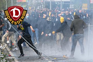 Nach Krawallen beim Dynamo-Aufstieg: Polizei fahndet mit Fotos nach Randalierern