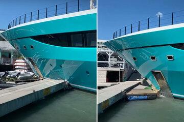 Luxusyacht von Capri-Sonne-Chef kracht in Hafen - der stellt klar: Ich war's nicht!