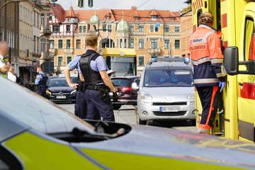 Unfall am Schillerplatz: Tolkewitzer Straße gesperrt, Bahnen umgeleitet