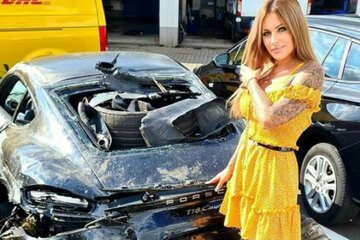 "Julia Jasmin Rühle says goodbye after a terrible Porsche accident: ""It sounds sick"""