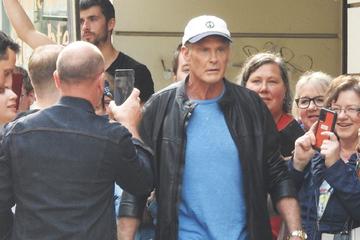 Filmstar David Hasselhoff dreht neue Serie in Sachsen