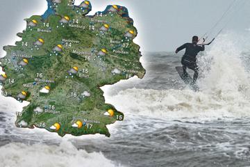 Sturmtief über Deutschland sorgt für Schauer, Gewitter und Starkregen