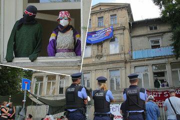 Dresden: Villa in Dresden besetzt: Aktivisten verkünden Forderungen - Freistaat stellt Ultimatum