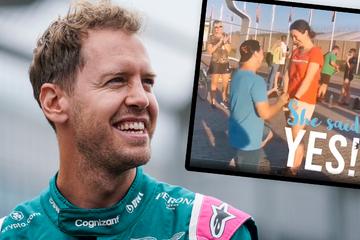Plötzlich taucht Sebastian Vettel bei Heiratsantrag auf