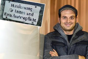 "Frankfurt: ""Hundezwang"" und ""Kotpflicht""?! Kaya Yanar entdeckt kurioses Verbotsschild"