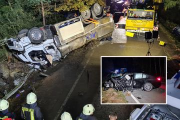 Kettenreaktion: Toter (19) und Schwerverletzte bei Unfall in Sachsen