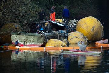 "Bei Hochwasser gesunkenes Schiff ""Moornixe"" soll heute geborgen werden"