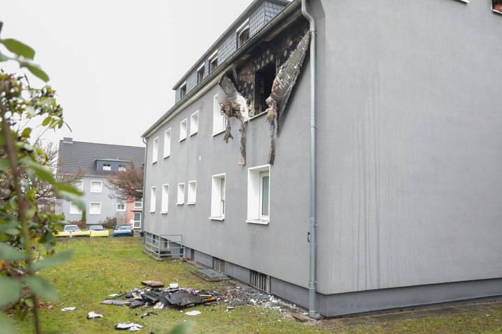 Die Wohnung ist komplett ausgebrannt.