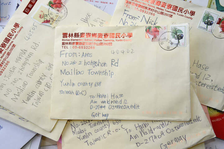 Der Osterhase erhielt in diesem Jahr auch 400 Briefe aus Taiwan.