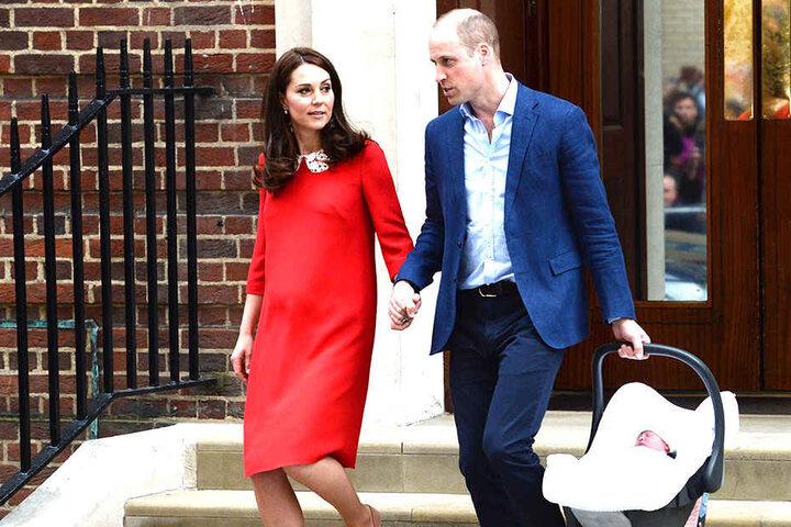 Herzogin Kate und William kurz nach der Geburt ihres Sohnes.