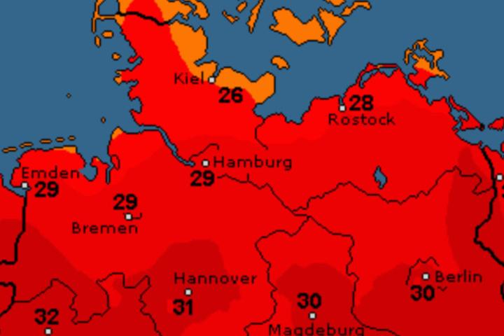 Am Wochenende wird auch im Norden wieder die 30-Grad-Marke geknackt.