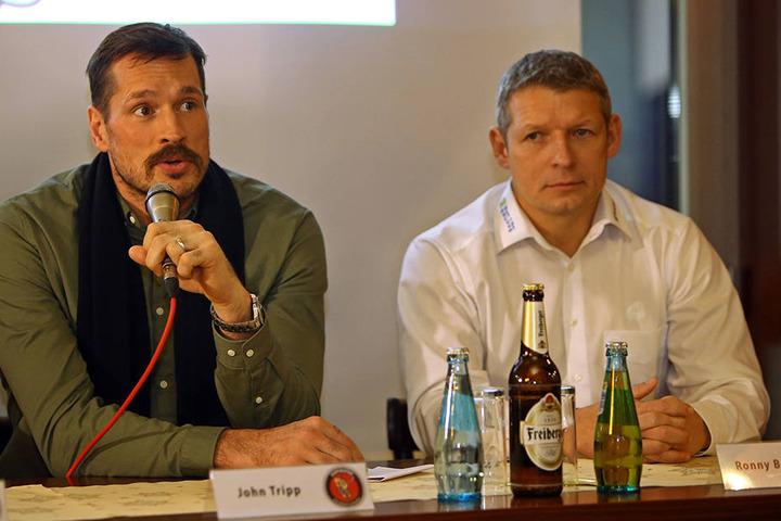 John Tripp (l.) und Ronny Bauer bei der Pressekonferenz.