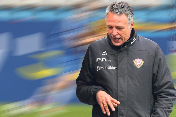 Dynamo-Coach Uwe Neuhaus hatte keine wirkliche Erklärung für die katastrophale Leistung seiner Mannschaft in der zweiten Halbzeit der Bochum-Partie.