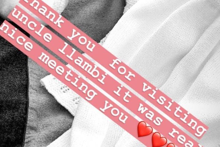 In ihrer Instagram-Story verriet Mabuse über den Besuch.