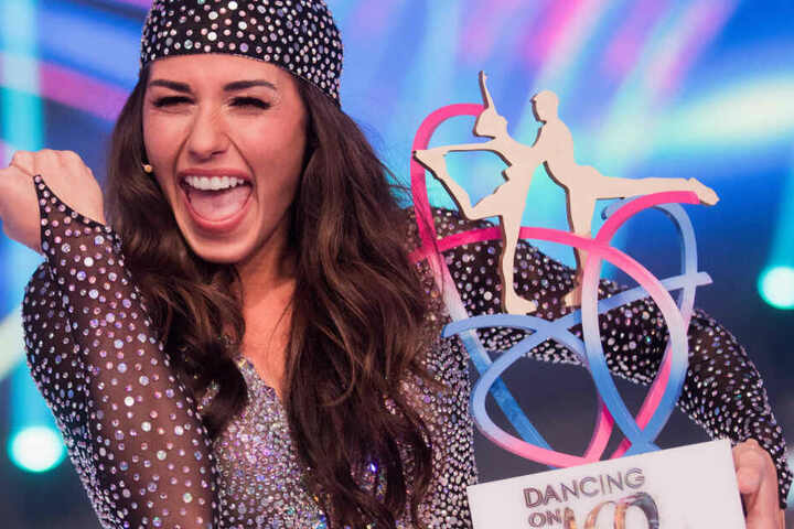 "Sarah Lombardi gewann 2019 die Sat.1-Show ""Dancing on Ice""."