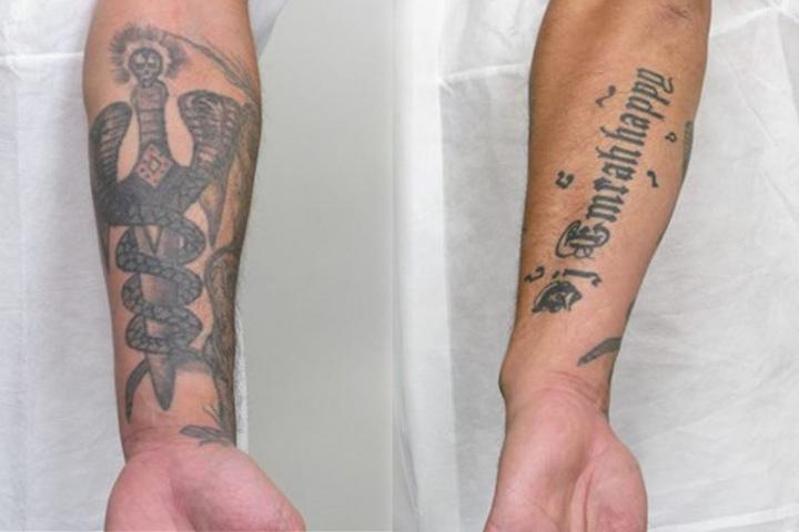 Der Verdächtige hat auffällige Tattoos.