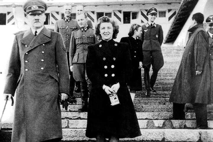 Adolf Hitler und seine Frau Eva Braun.