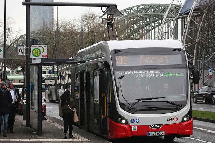 Ein Bus der Kölner Verkehrsbetriebe.