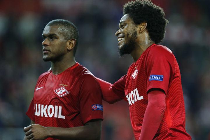 Aktuell ist Luiz Adriano (Re.) beim russischen Klub Spartak Moskau unter Vertrag.