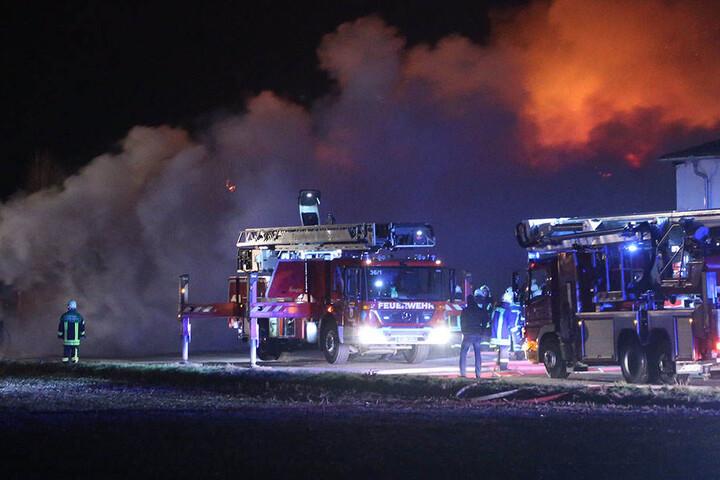 Ein Großaufgebot der Feuerwehr musste ausrücken und ist bis jetzt im Einsatz.