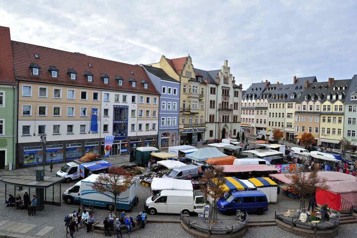 Mit den Fördermitteln in Höhe von 3,2 Millionen Euro soll unter anderem das Rathaus am Mittweidaer Markt saniert werden.
