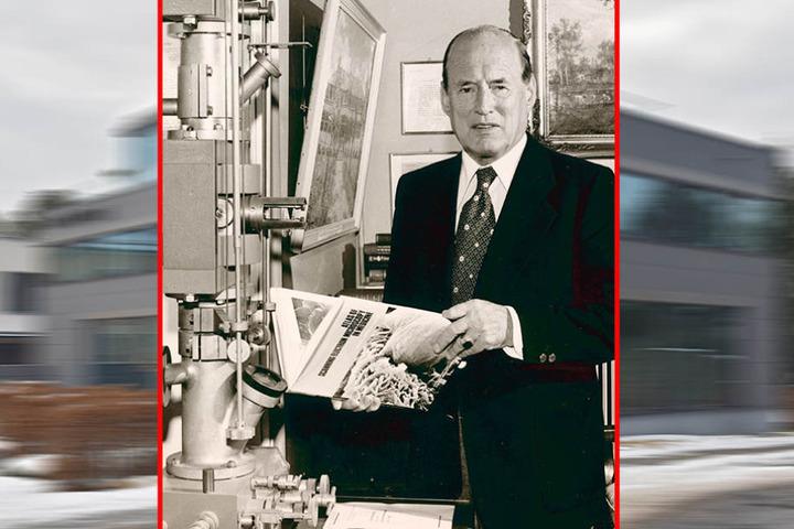 Patriarch und Firmengründer Manfred von Ardenne (1907-1997) zog 1955 auf den Weißen Hirsch.