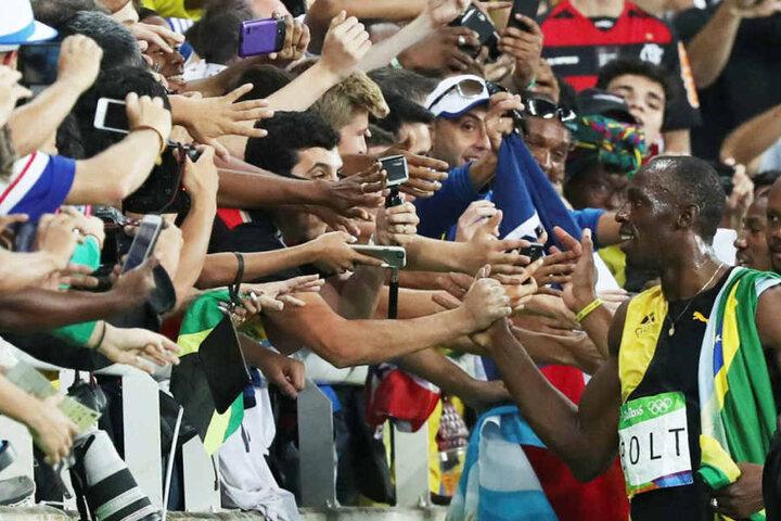 Usain Bolt lief wohl das letzte Mal bei den olympischen Spielen und holte Gold.