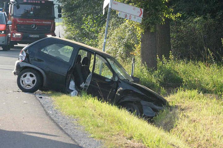 Der 65-jähriger Opel-Fahrer war wahrscheinlich nicht angeschnallt.