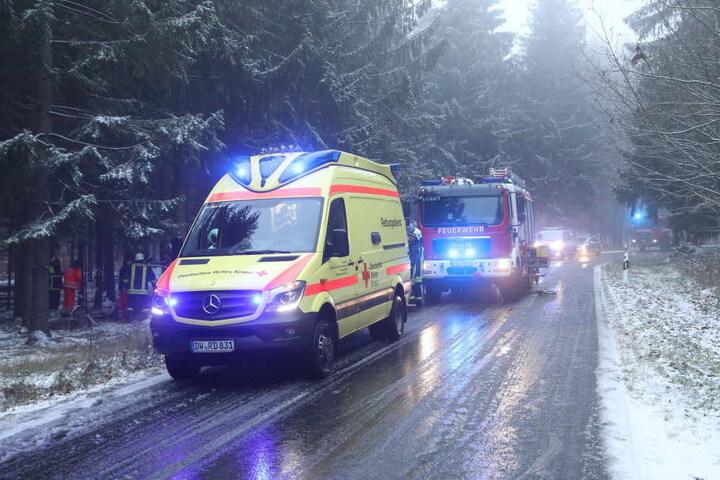 Bei winterlichen Bedingungen verlor die Frau die Kontrolle über ihren Wagen.