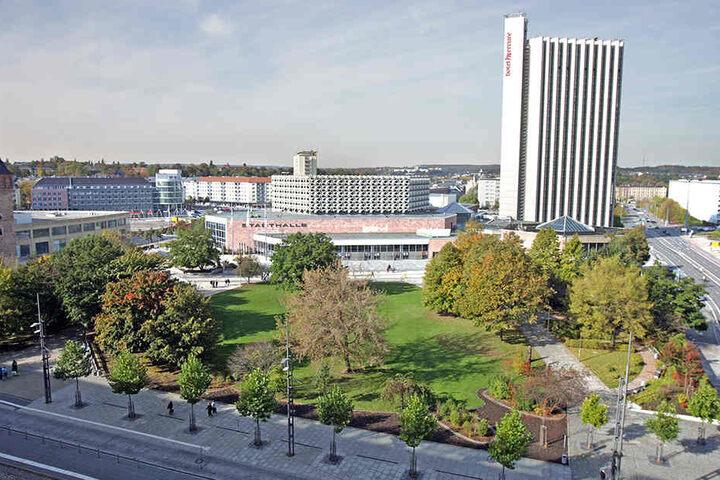 Die IHK möchte, dass am Rande des Stadthallenparks zur Straße der Nationen ein großer Einkaufsmagnet entsteht.