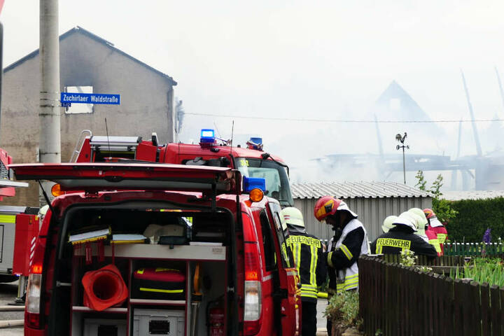 Die Scheune in der Zschirlaer Waldstraße brannte bis auf die Grundmauern ab.