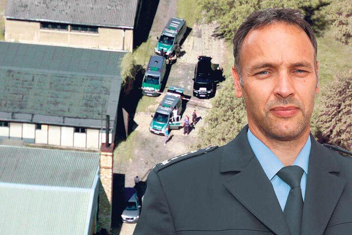 Die Beamten suchen weiter fieberhaft nach der Schusswaffe. Polizeisprecher Thomas Geithner (43, re.).